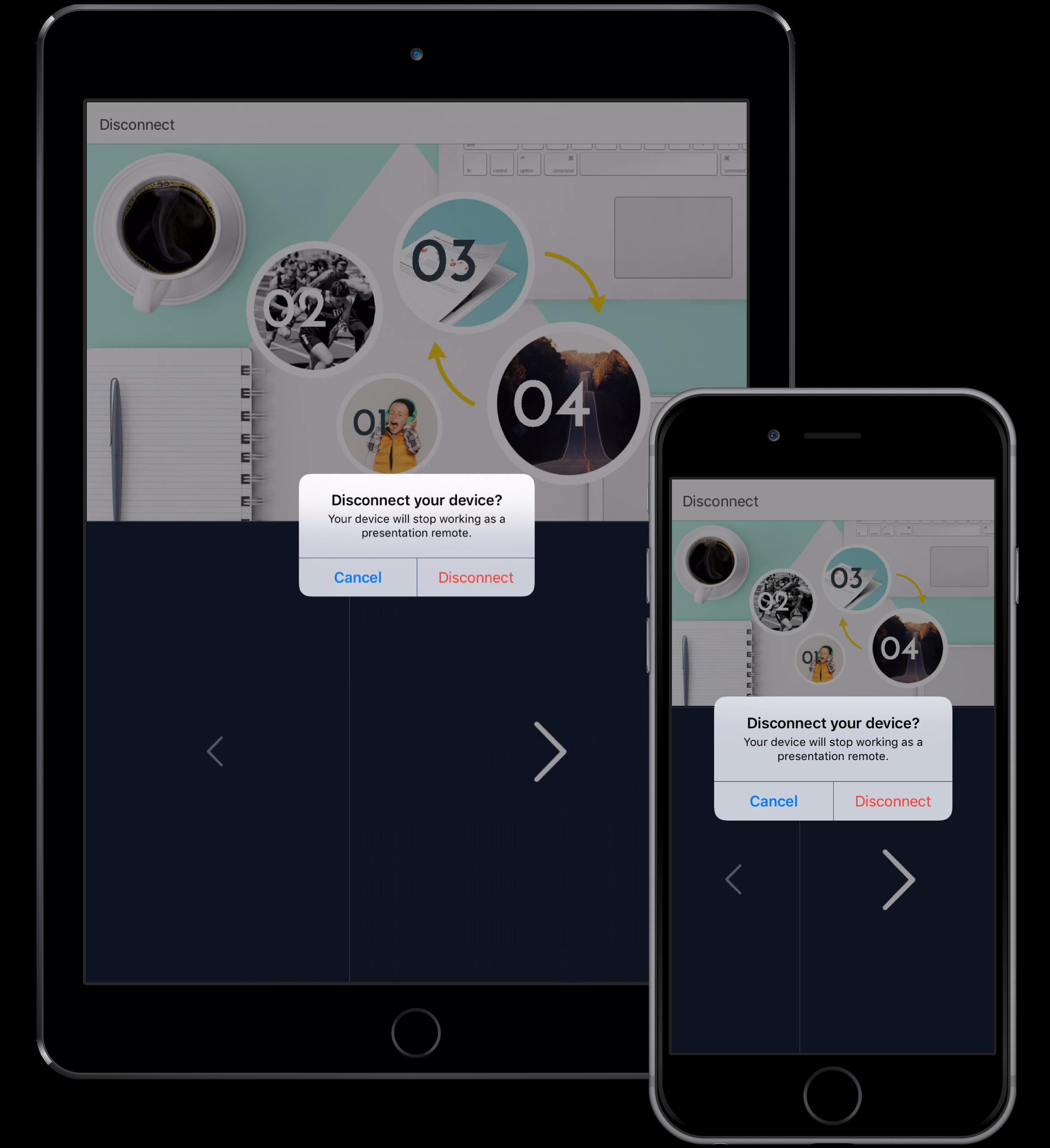 Using your mobile device as a presentation remote (clicker) – Prezi